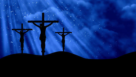 Christ on Crosses-Worship 7 Loopable Background Animation