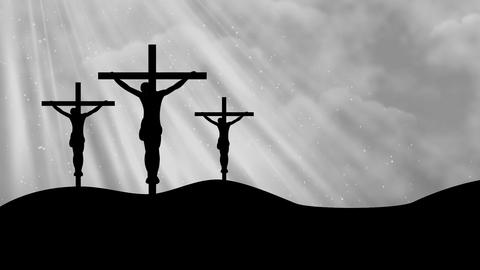 Christ on Crosses-Worship 9 Loopable Background Animation