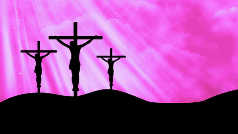 Christ on Crosses-Worship 10 Loopable Background Animation