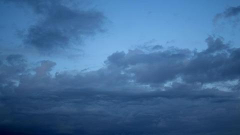 Bluish Darkening Clouds Footage