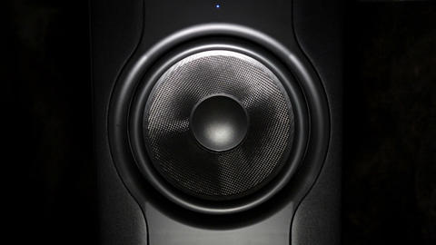 professional studio subwoofer speaker isolated Footage