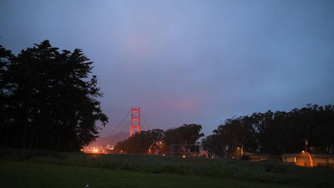 bridge in san francisco, day, night, far and near Live Action
