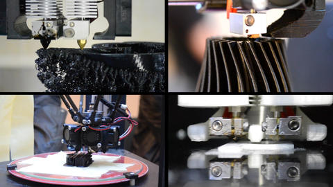 4 in 1! Many objects printed by 3d printer Live Action