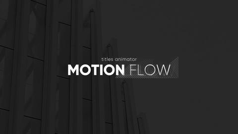 Titles Animator - Motion Flow // Premiere Pro Premiere Proテンプレート