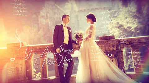 Brush Particle Wedding SlideShow After Effects Template