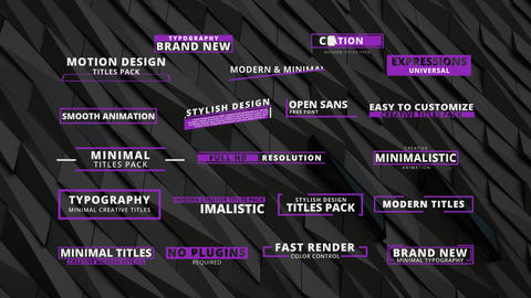20 Creative Titles After Effects Template