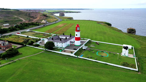 Souter Lighthouse and The Leas, National Trust United Kingdom.Lighthouse Live Action