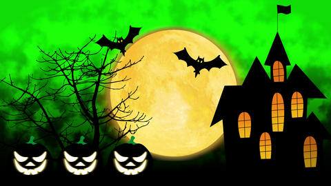 Happy Halloween colourful theme animation background CG動画