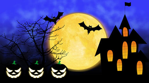Happy Halloween colourful theme animation background Animation