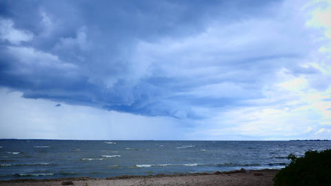 storm over the sea time lapse Live Action