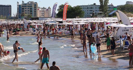 Crowded Sunny Beach GIF