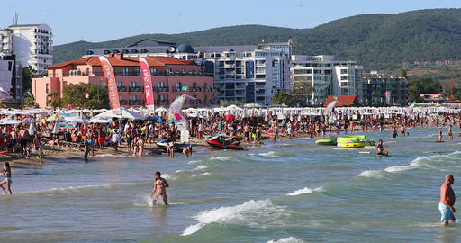 Sunny Beach On The Black Sea Coast Live Action