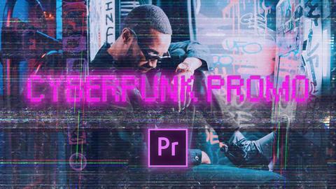 Cyberpunk Neon Opener Premiere Pro Template