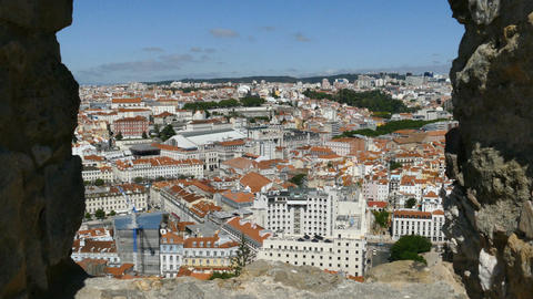 Lisbon seen from Sao Jorge Castle Footage