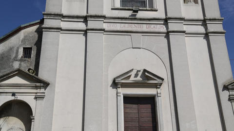 in italy sumirago ancient religion building for catholic tilt up shot Live Action