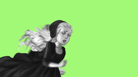 Beautiful girl running - 1