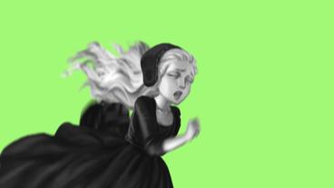 Beautiful girl running - 2