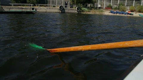 Rowing Oar In The Water Footage