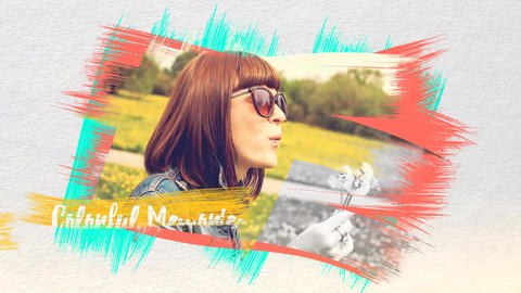 Colorful Memories After Effects Template