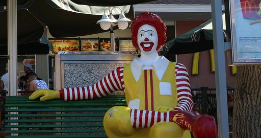 Ronald McDonald Statue GIF