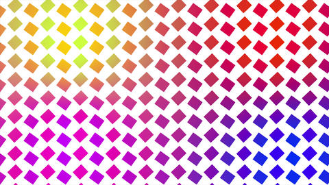 Colorful rotating squares background. Colors are changing and shapes are rotating and changing Animation