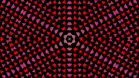 Colorful rotating triangles background. Colors are changing and abstract mosaic graphic on green Animation