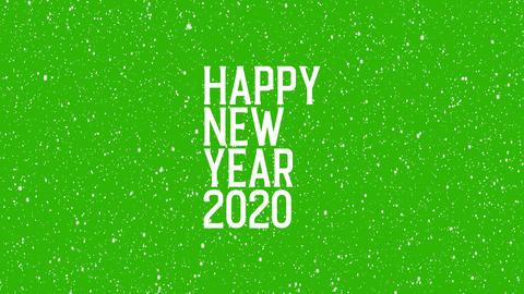 "2020 celebration with snowflakes. Animated text of ""HAPPY NEW YEAR 2020"" Christmas background Animation"
