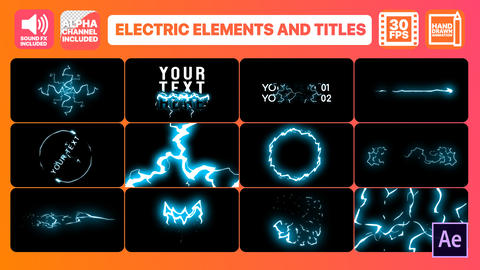 Cartoon Electricity And Titles After Effects Template