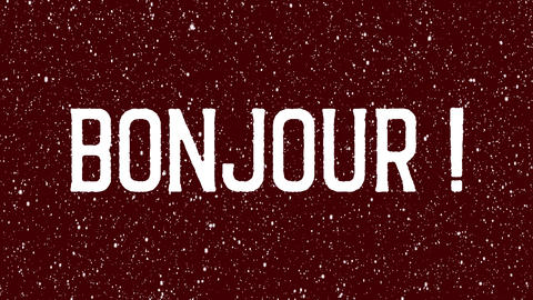 "Animated text of ""Bonjour"". French Hello, hi isolated letter Animation"