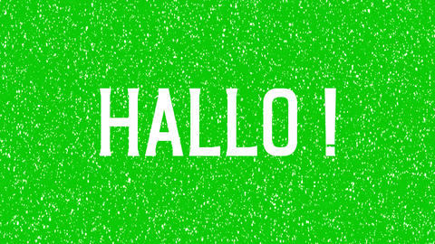 """HALLO"" text in German language animated word. Hello, hi in German Animation"
