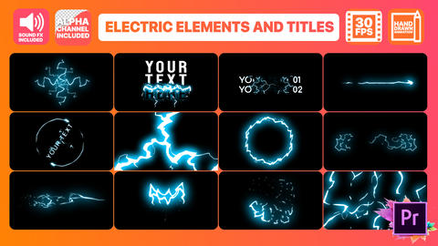 Cartoon Electricity And Titles Motion Graphics Template