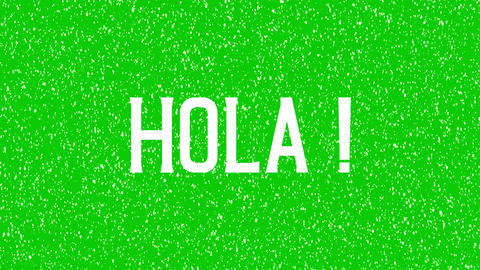 "Animated text of ""Hola"". Hello, Hi meaning in Spanish isolated word Animation"