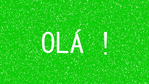 "Hello, Hi text in Brazilian, Portuguese language. Animated word of ""OLA"" Animation"