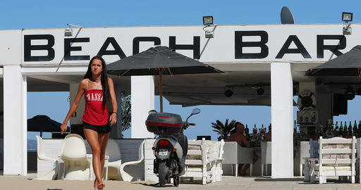 Beach Bar In Sunny Beach Bulgaria Live Action