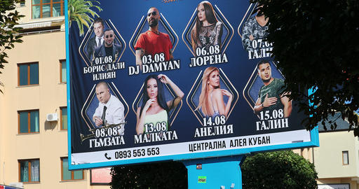 Billboard Promoting Bulgarian Singers Live Action