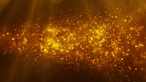 Creative golden glitters, particles background. shiny orange dust design animation Animation