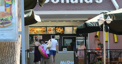 Mcdonald Restaurant In Sunny Beach Bulgaria Live Action