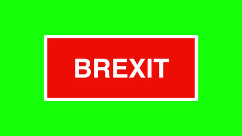 """The word """"No-deal"""" Brexit zooming in and out on green background Animation"""