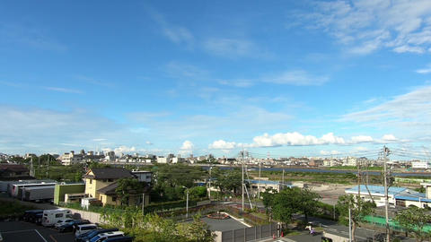 Residential area sky and clouds ライブ動画