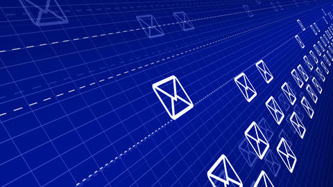 flying mails abstract background, Stock Animation
