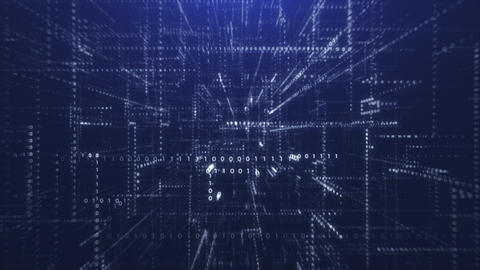 Blue Abstract Binary Code Background Live Action
