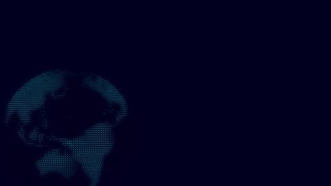 テクノロジーをイメージしたデジタル地球 CG動画