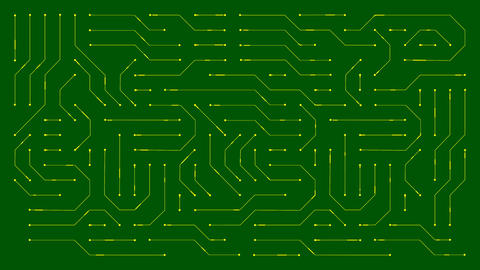 Animation of a circuit board connections Animation