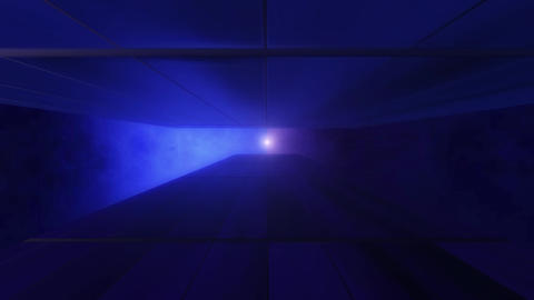 Modern style of 80's 90's retro style grid tunnel with sun. Vintage and future together, 3D Animation