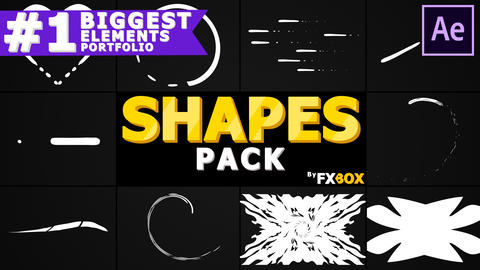 Cartoon Shapes Pack After Effects Template