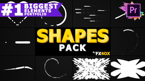 Cartoon Shapes Pack Motion Graphics Template