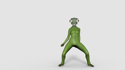 fly monster dancing thriller dance, transparent background