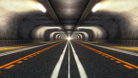 Highway Road Tunnel CG動画素材