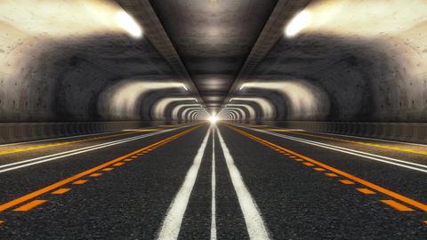 Highway Road Tunnel 애니메이션