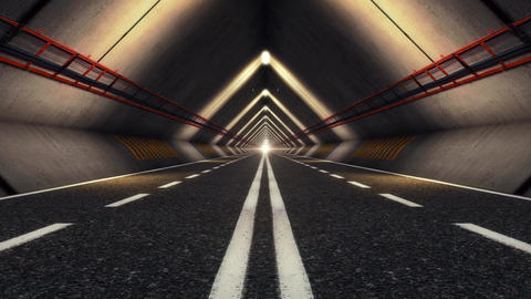 Highway Road Tunnel Animation